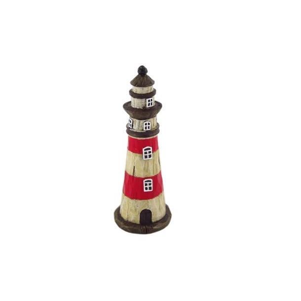 Figur Fyrtårn Rød Og Hvid
