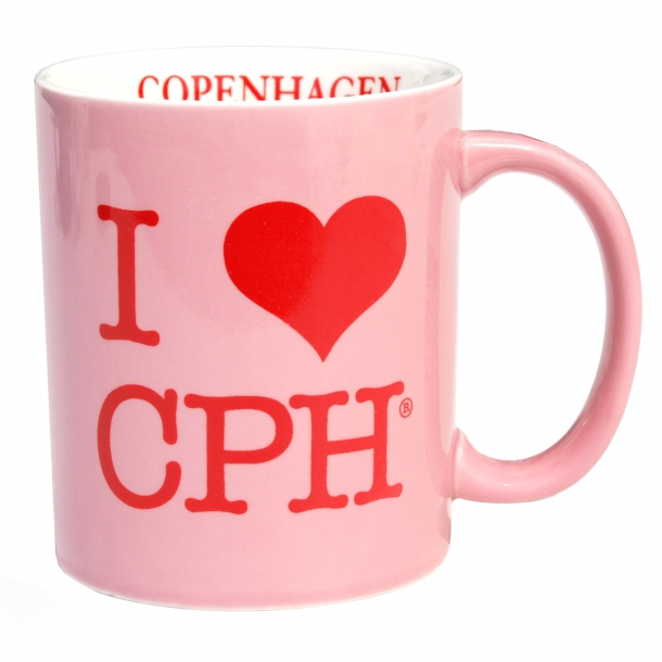 Krus I Love CPH Lyserød Stor