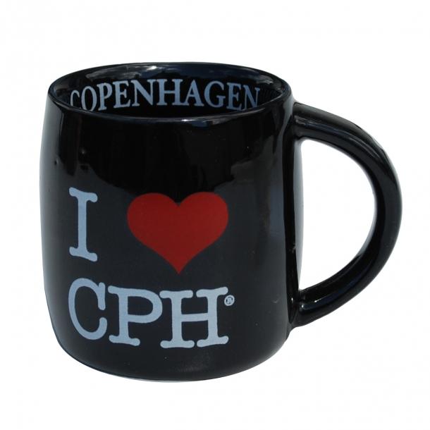 Krus I Love CPH Sort Lille