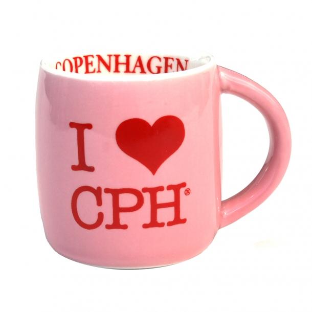 Krus I Love CPH Lyserød Lille