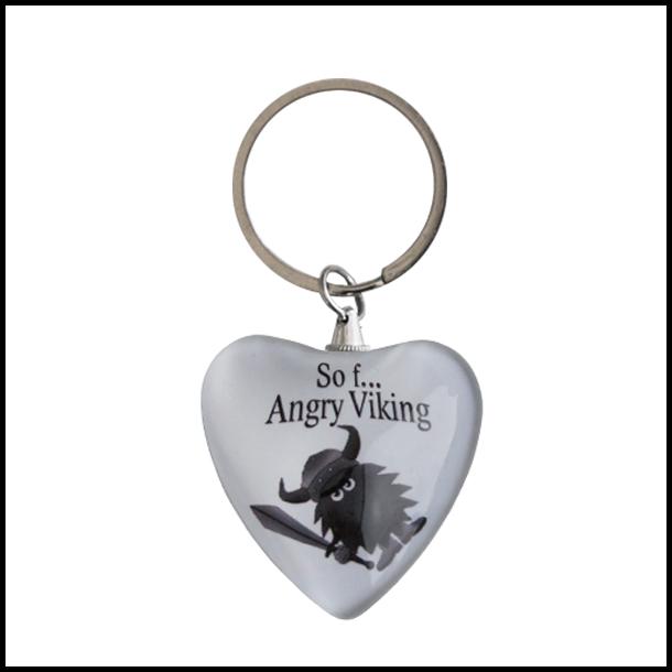 Nøglering Angry Viking Hjerte