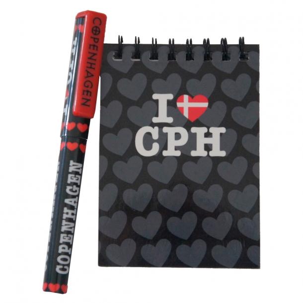 Blok Og Kuglepen Copenhagen I Love CPH