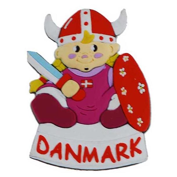 Magnet Vikingepige Gummi