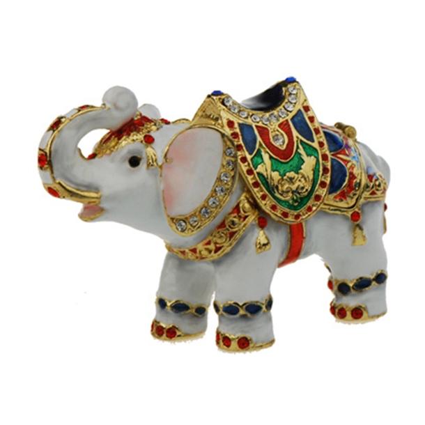 Figur Elefant Hvid Juvel