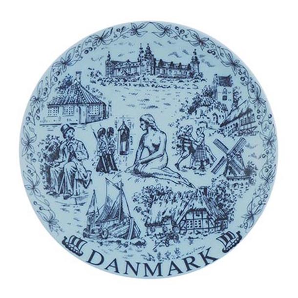 Platte Danmark Blå I æske 19 cm