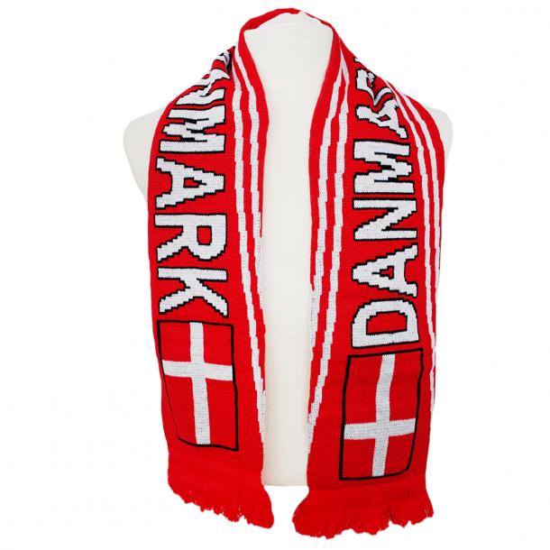Halstørklæde Dannebrog Rød