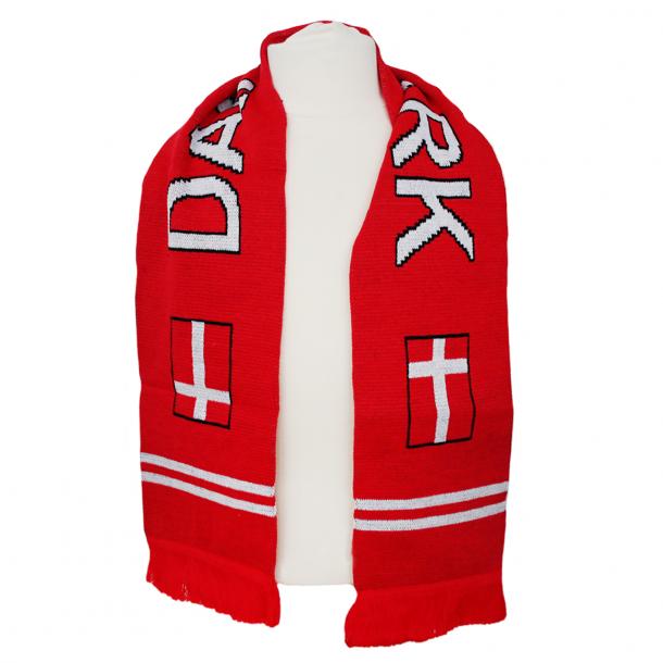 Halstørklæde Danmark Rød