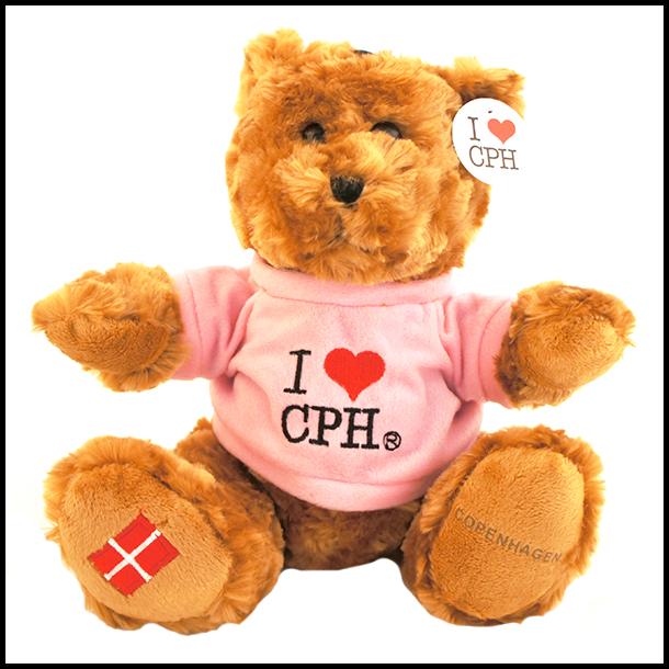 Plys I Love CPH Mørk Pink Stor