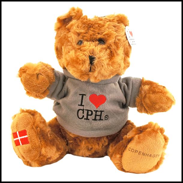 Plys I Love CPH Mørk Grå Stor