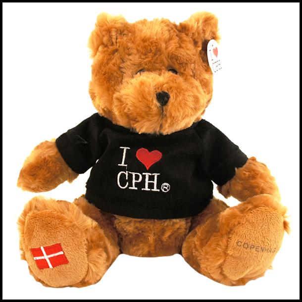 Plys I love CPH Mørk Sort Stor