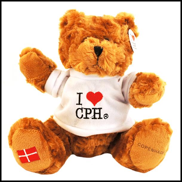 Plys I Love CPH Mørk Hvid Stor