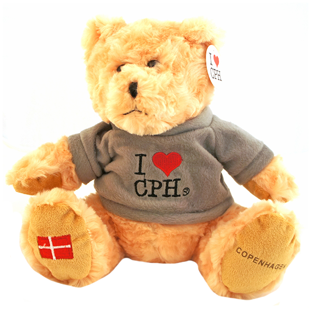 Plys I Love CPH Lys Grå Stor