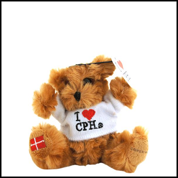 Plys I Love CPH Mørk Hvid Lille