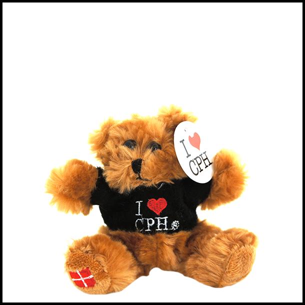 Plys I Love CPH Mørk Sort Lille