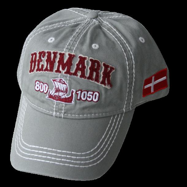 Kasket Grå Denmark Vikingeskib