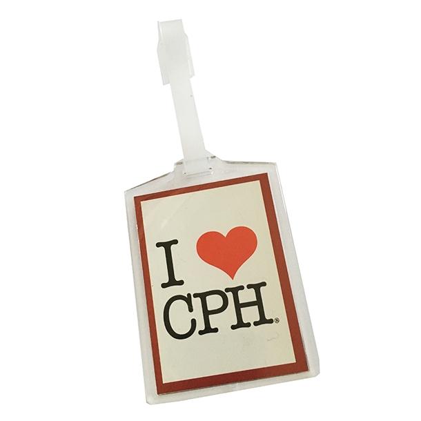Kuffertmærke I Love CPH