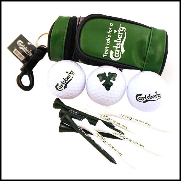 Golfsæt Carlsberg 3 Bolde Og 12 Tees