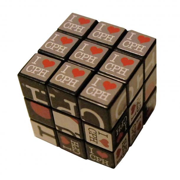 Rubrik Cube I Love CPH Stor