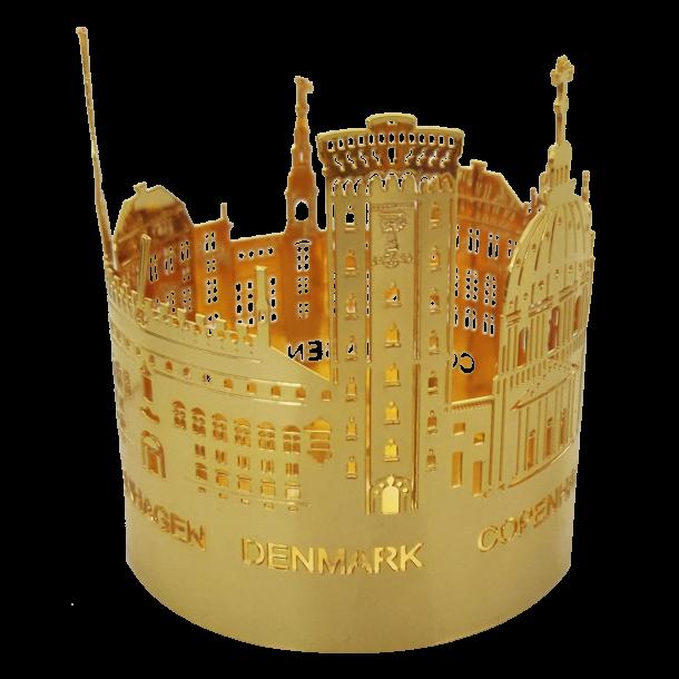 Fyrfadslysestage Byens Tårne Guld