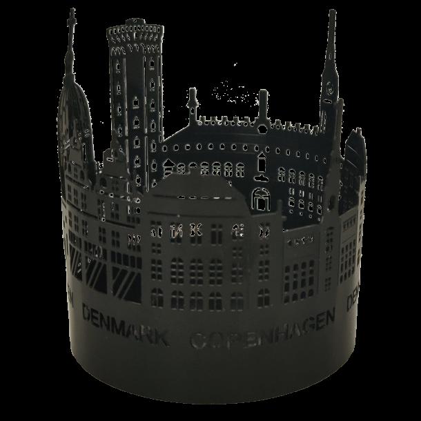 Fyrfadslysestage Byens Tårne Mat Sort
