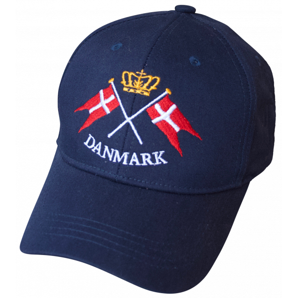 Kasket Danmark Flag Krone