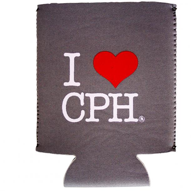 Dåsekøler I Love CPH Neopren Grå