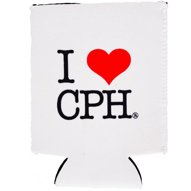 Dåsekøler I Love CPH Neopren Hvid