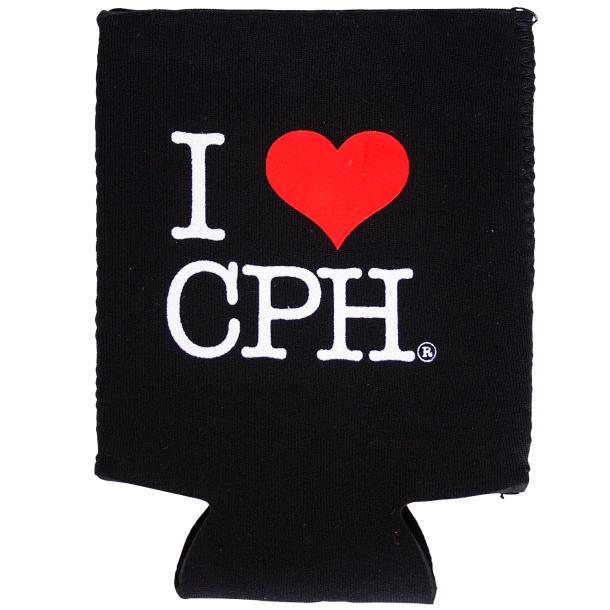 Dåsekøler I Love CPH Neopren Sort