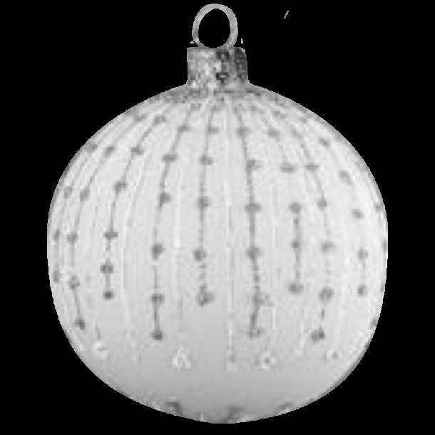 Julekugle Frost Hvid