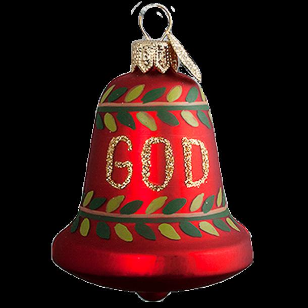 Julekugle God Jul Klokke 6 Cm