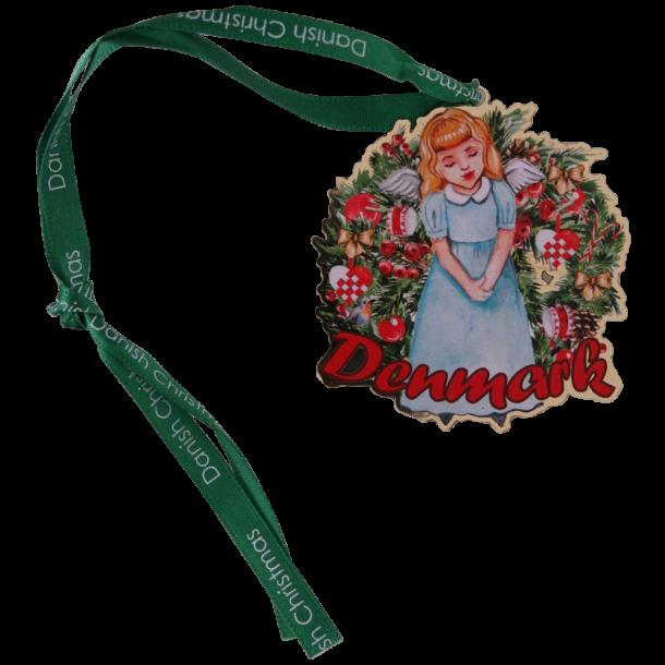 Juleophæng Engel Pige Blå