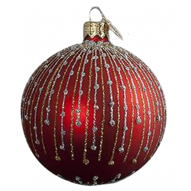 Julekugle Frost Rød