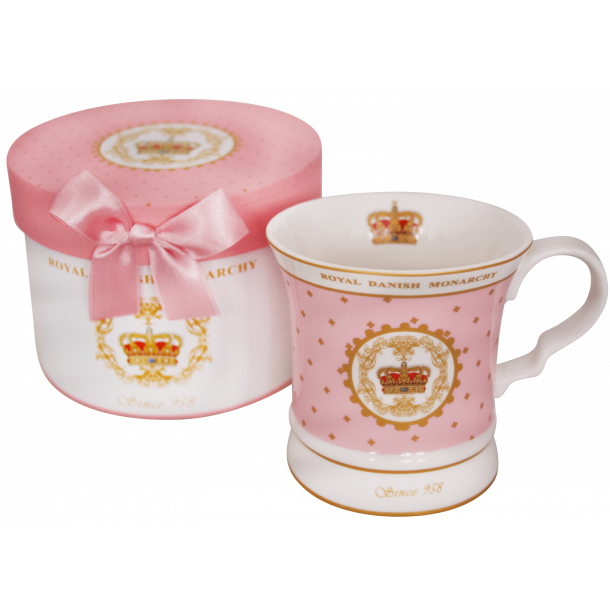 Krus I Gaveæske Royal Danish Monarchy Pink