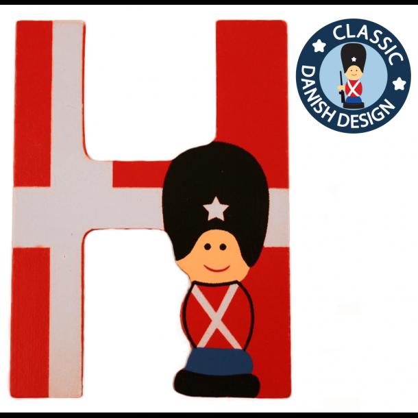 Træbogstav Garder Og Flag H