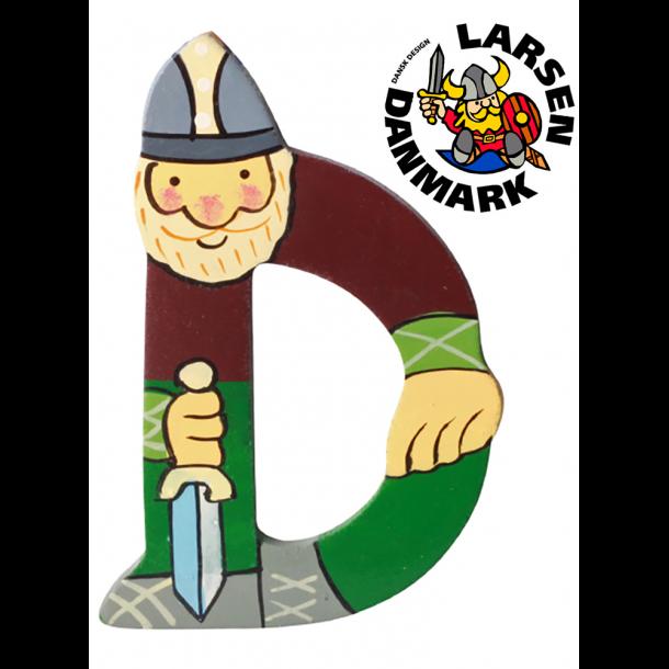Træbogstav Viking D