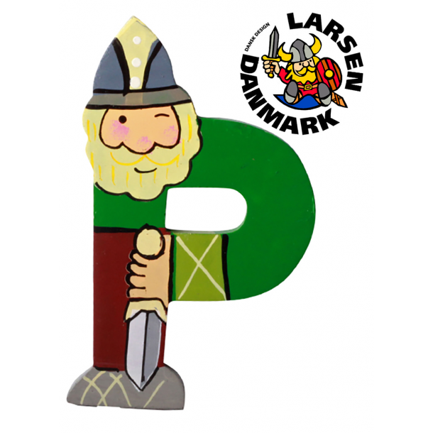 Træbogstav Viking P