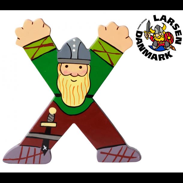 Træbogstav Viking X