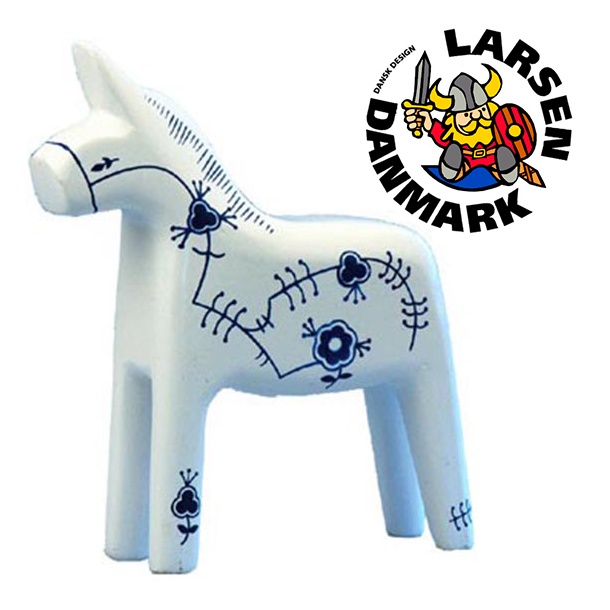Figur Blomster Hest Mellem