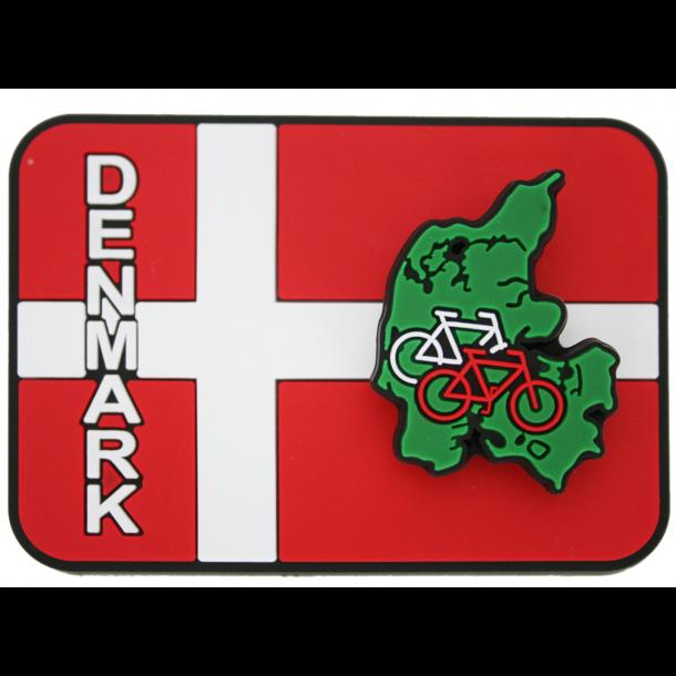 Fjedermagnet Danmark Kort