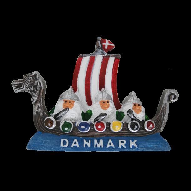 Magnet Vikingeskib Gips