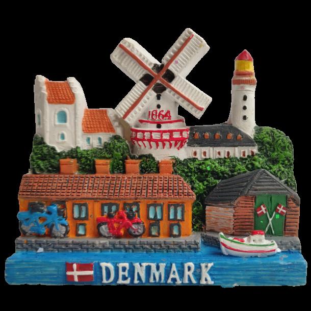 Magnet Denmark Mølle Fyrtårn Kirke 3D