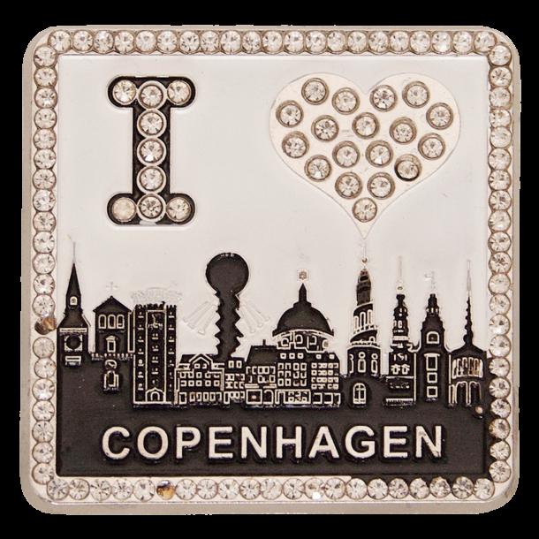 Magnet I Love Copenhagen Black And White