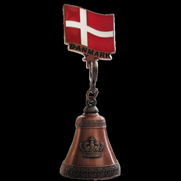 Magnet Flag Med Klokke Bronze