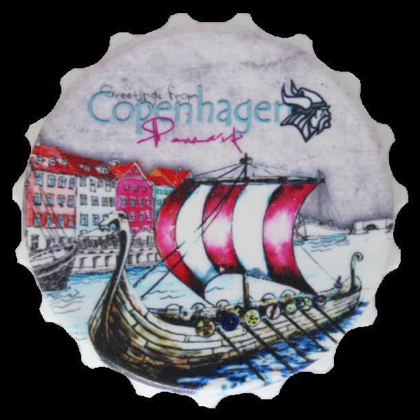 Magnet Og Oplukker Vikingeskib Nyhavn Kapsel