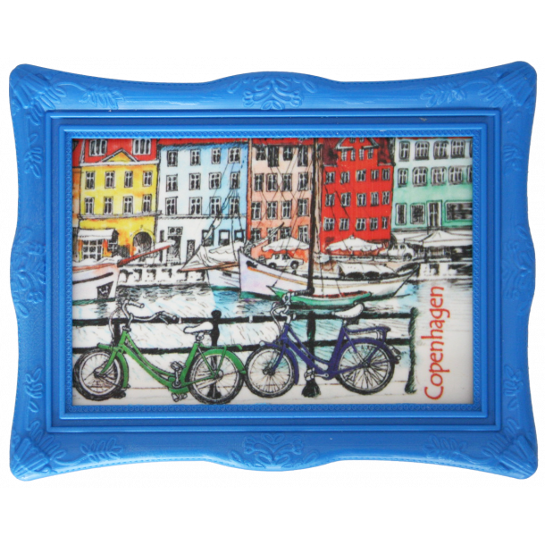 Magnet Med Ramme Nyhavn Cykler
