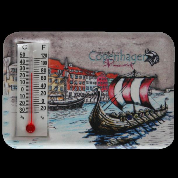 Magnet Med Termometer Nyhavn Vikingeskib