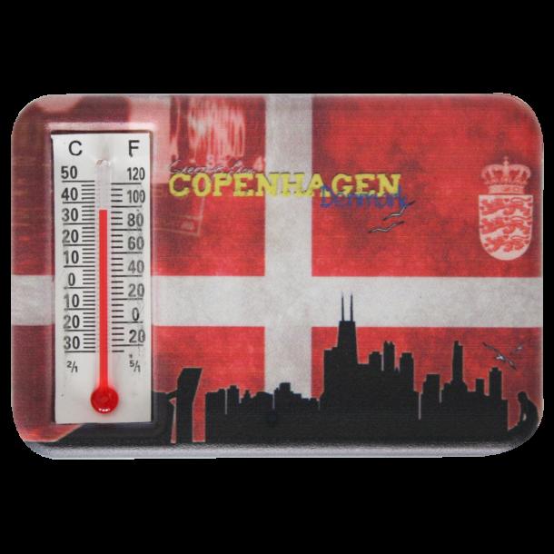 Magnet Med Termometer Flag Skyline