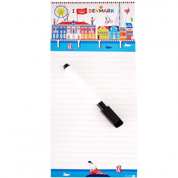 Memoblok Og Pen CPH Colours Magnetisk