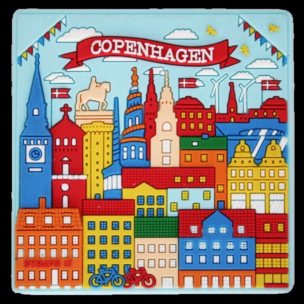 Magnet Københavns Tårne Farver Gummi