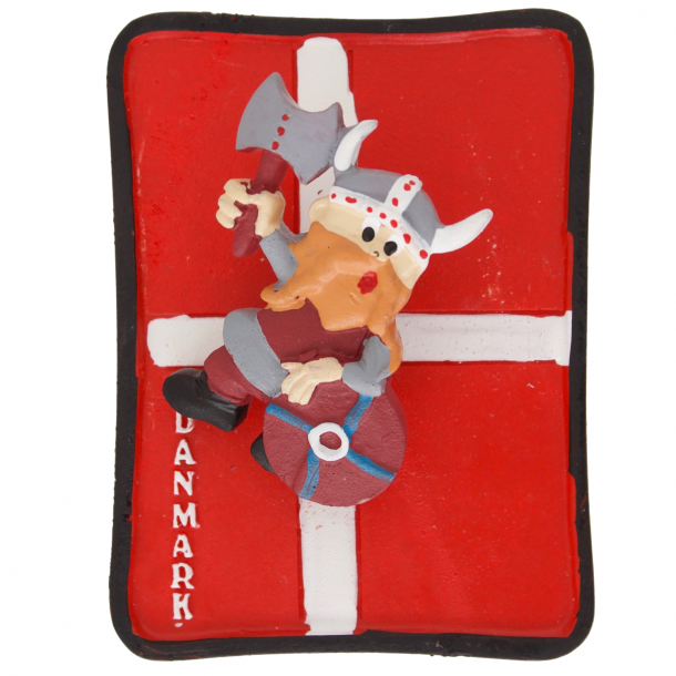 Fjedermagnet Viking Flag Gips